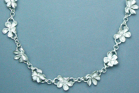 Silver Wood Violet Necklace
