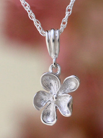 Wood Violet Necklace - sterling silver