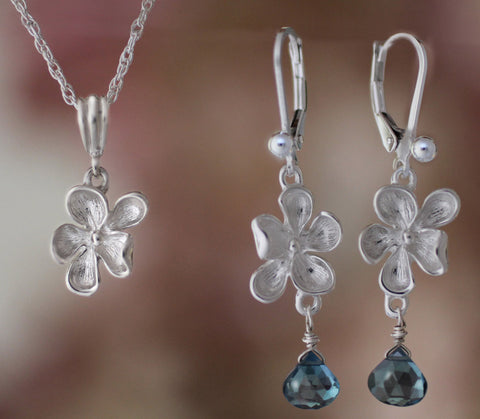 Sterling Wood Violet Jewelry