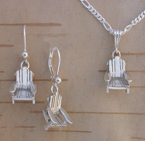 Sterling Silver Adirondack Chair Jewelry