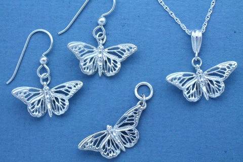 Sterling Silver Monarch Butterfly Jewelry