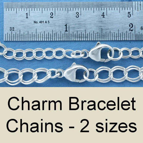 Charm Bracelet Chain - sterling silver cut any length to fit!