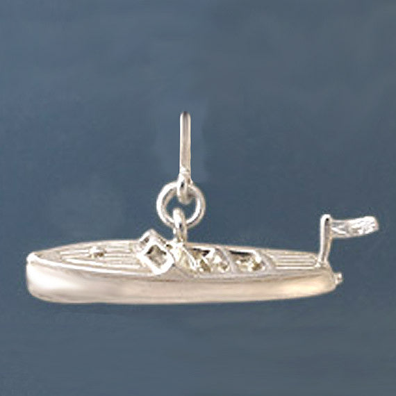Sterling Silver Chris Craft Charm