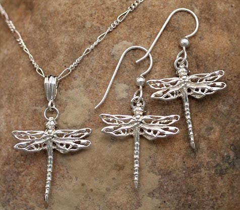 Dragonfly Jewelry - Sterling Silver