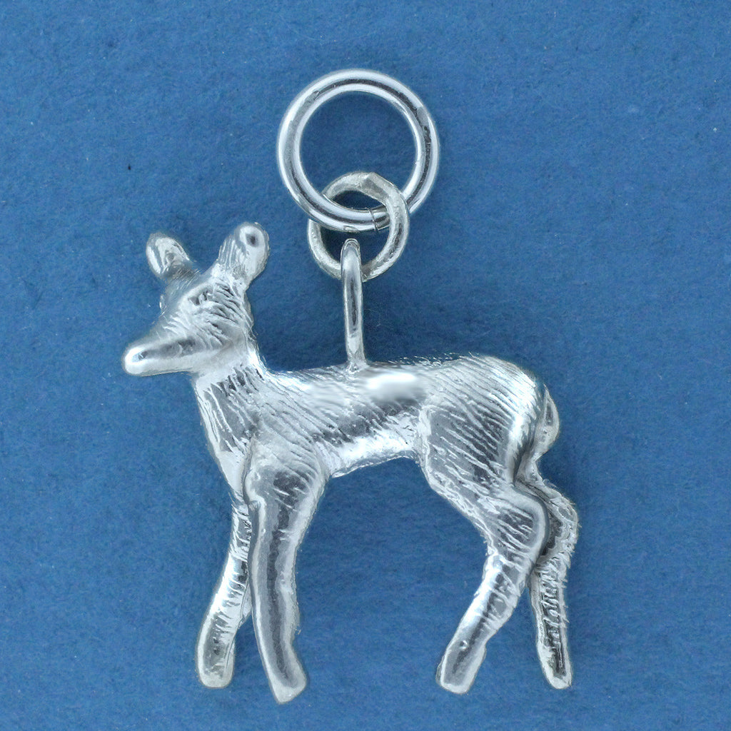 Sterling Silver Fawn Charm