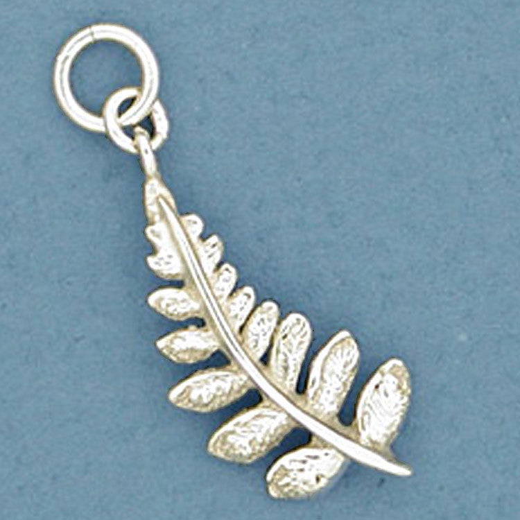 fern frond charm Silver Fern Leaf Necklace pewter leaf necklace unisex necklace leaf pendant rustic nature jewelry