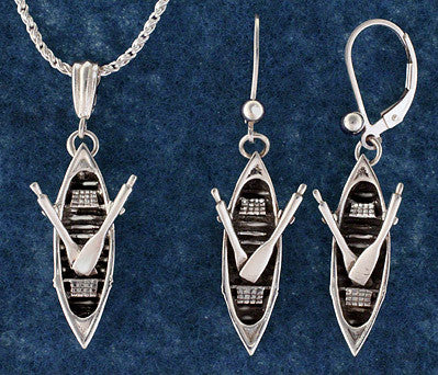 Silver Adirondack Guideboat Jewelry