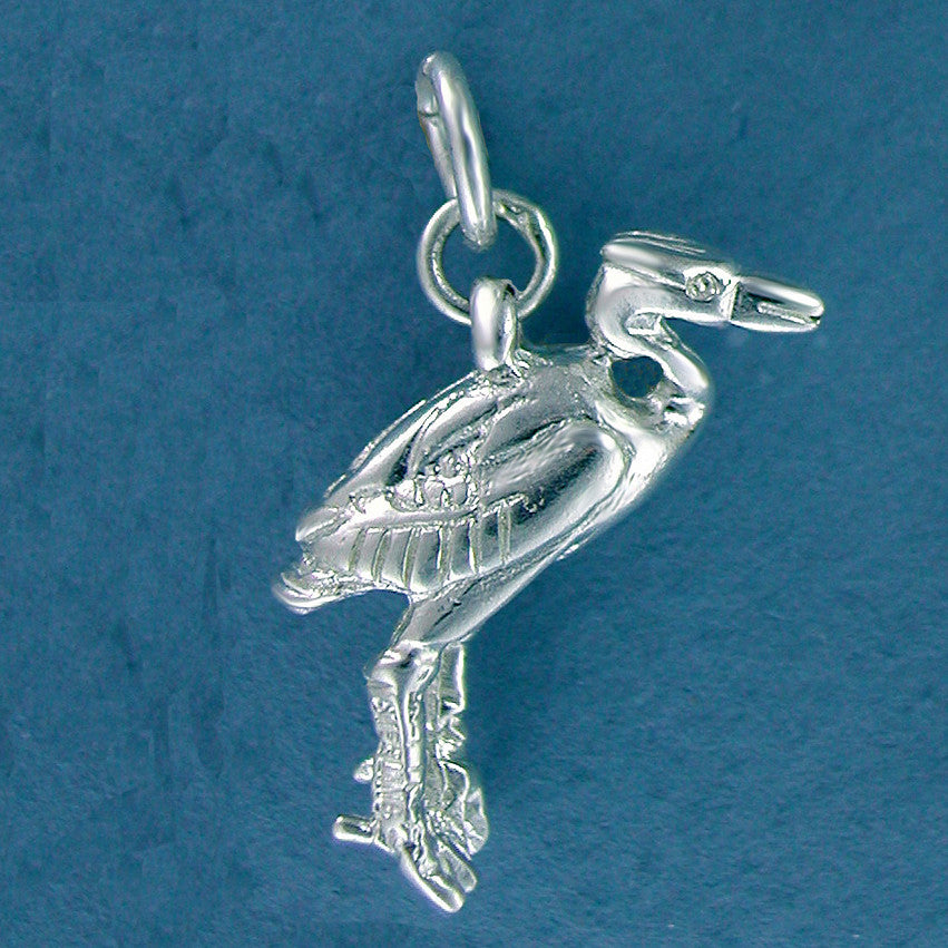 Sterling Silver Blue Heron Charm