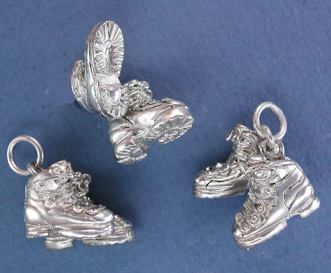 Sterling Silver (pair) Ski Boots Charm