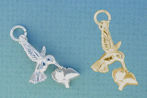 Hummingbird Jewelry - Sterling Silver & 14kt Gold