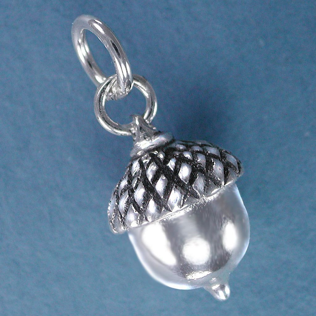 Sterling Silver Acorn Charm - large version