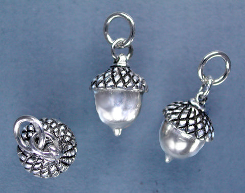 Lg Sterling Silver Acorn Charm