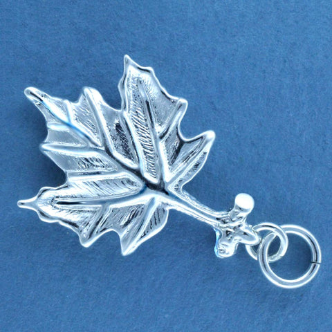 Sugar Maple Leaf Charm - sterling silver