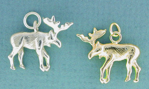 14k gold and Sterling Silver Moose Jewelry