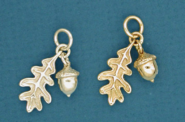 Sterling Silver Acorn Amp Oak Leaf Charm Nature Jewelry Spruce Mountain Designs
