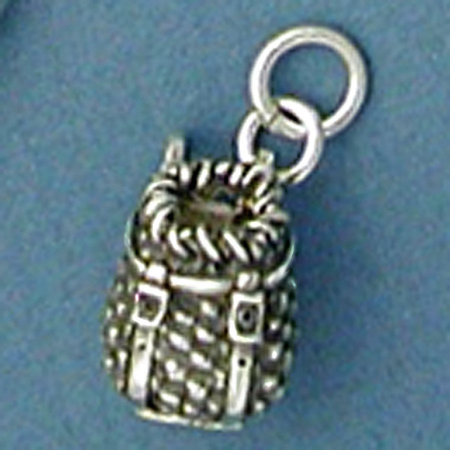 Sterling Silver Packbasket Charm