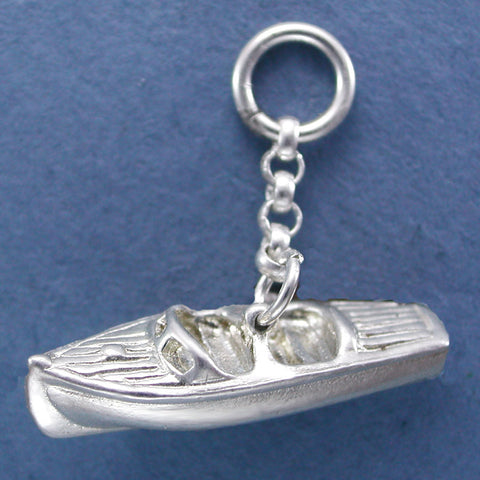 Sterling Silver Run About - Chris Craft Charm
