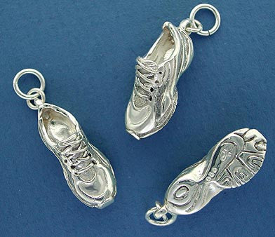 Sterling Silver Running Shoe Charm Jewelry
