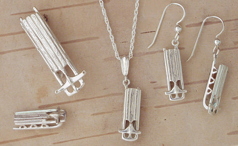 Sterling Silver Sled Jewelry