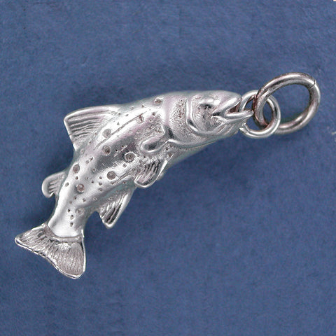 Sterling Silver Trout Charm