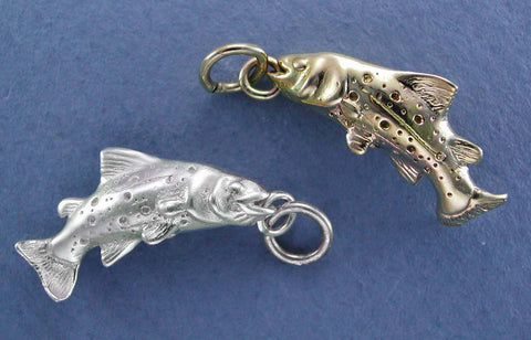 14kt Gold & Sterling Trout Jewelry