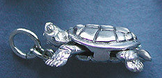Sterling Silver Turtle - side view