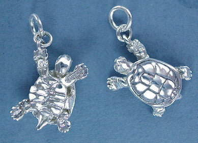 Sterling Silver Turtle - top & bottom