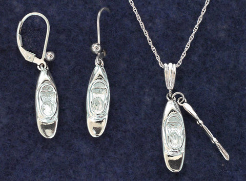 Whitewater Kayak Jewelry - Sterling Silver