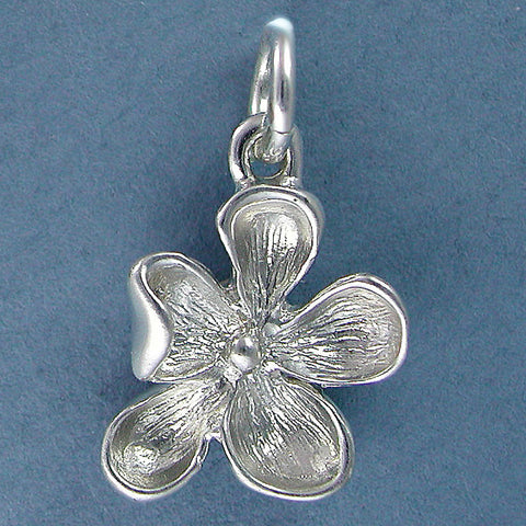 Sterling Silver Wood Violet Charm