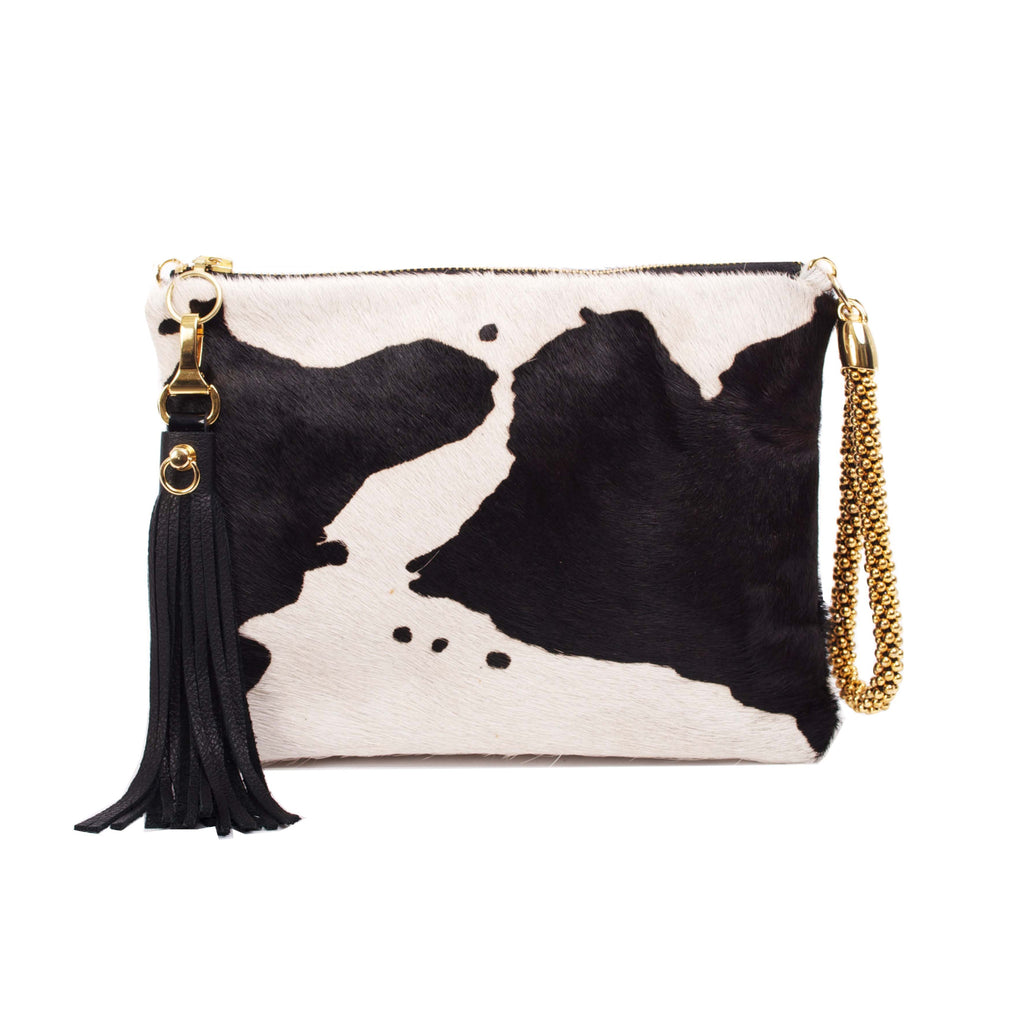 COW PRINT CALI CLUTCH