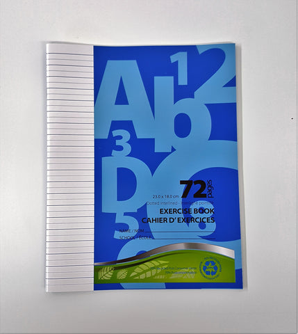 Exercise Book, Dotted Interlined - 72 pgs