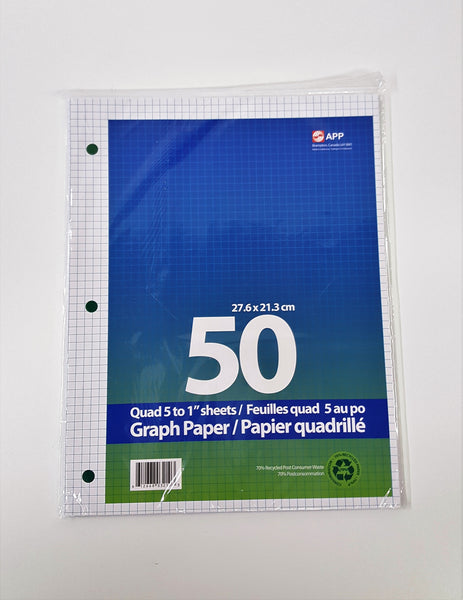 Refill Paper, Graph  5:1 (0.5cm squares)