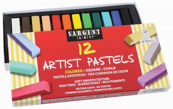 Chalk Pastels, Asstd Colours (12)