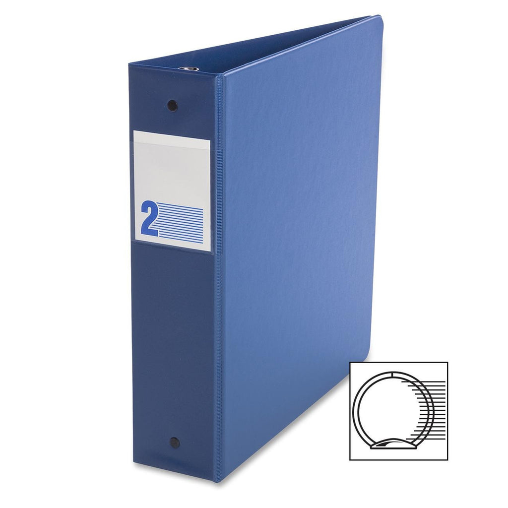 Binders, Comm. Grade, 2 in - O Ring, Royal Blue