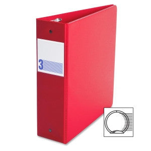 Binders, Comm. Grade 3 in - O Ring, Red