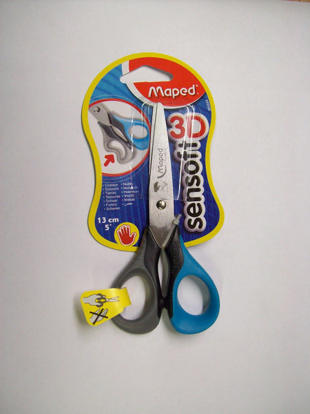 Scissors, Left Handed 5 in Semi-Point, Soft Grip