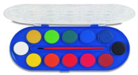 Paint Disc Set, Watercolour - Morocolour Student, 12 disc set
