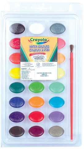 Paint Disc Set, Watercolour, 24 disc set