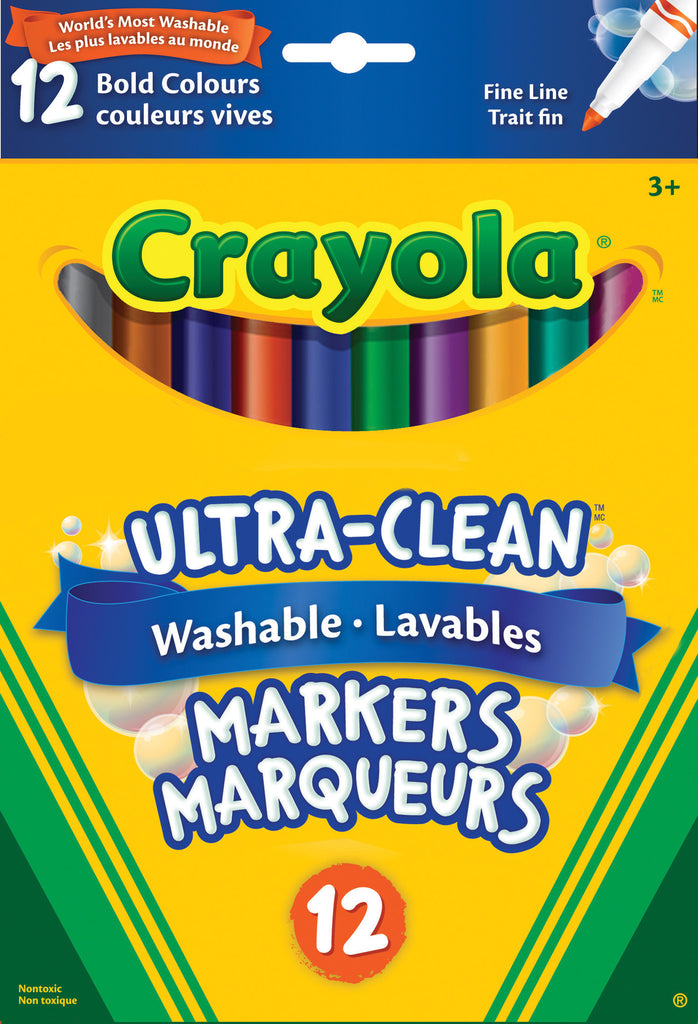 Markers, Super Tip Washable - Bold (12)