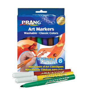 Markers, Bullet Tip Washable - Classic Colours (8)