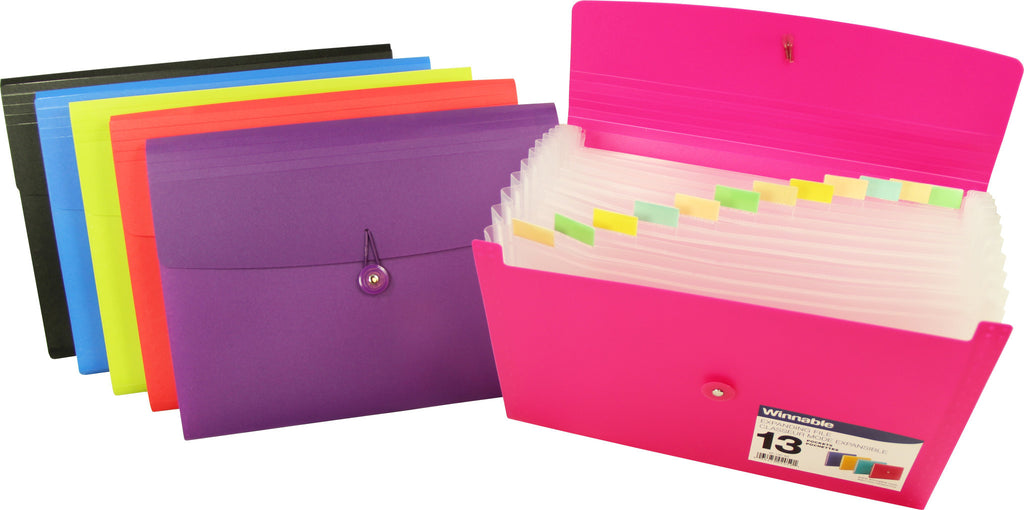 Expanding File, Poly - 13 Pockets, 10x12 Letter Size