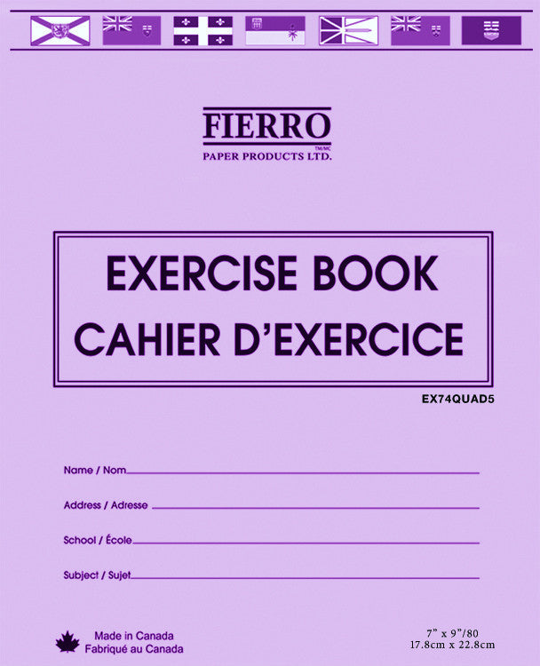 Exercise Book, Quad/Graph  - 40 pgs (23.1 x 18cm)