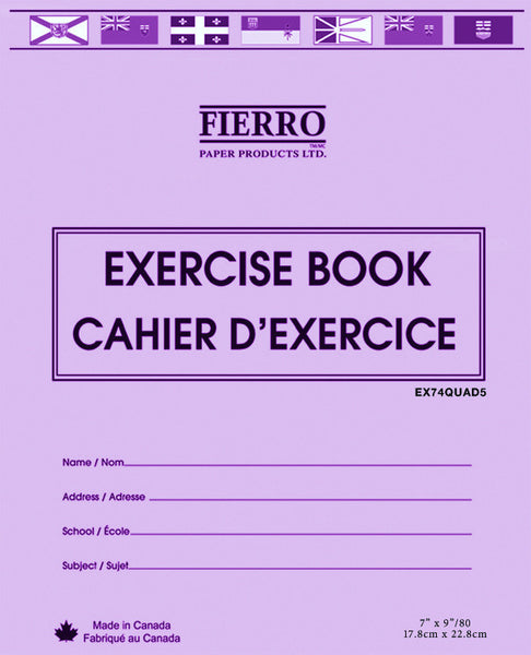 Exercise Book, Quad/Graph  - 40 pgs 7x9