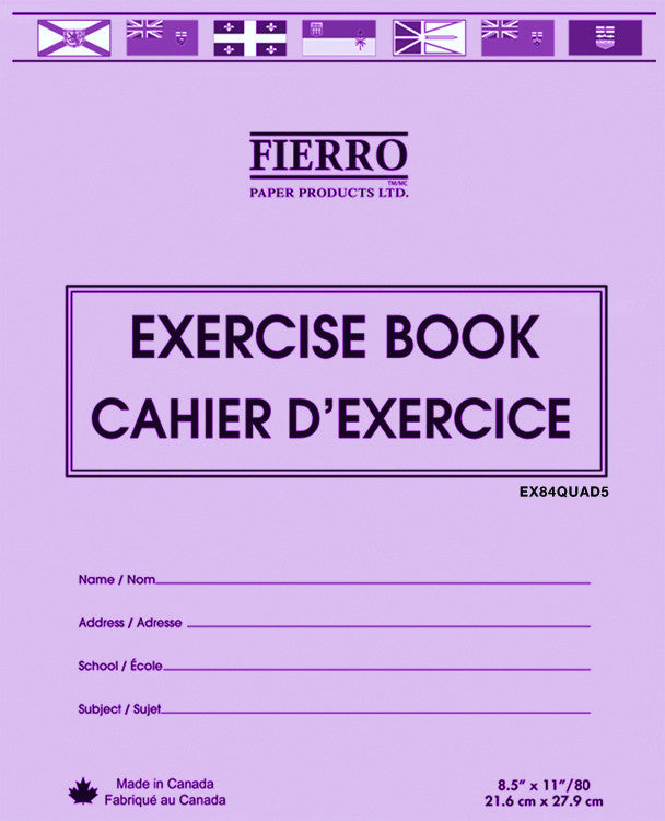 Exercise Book, Quad/Graph, 1cm, 40 pgs (21.6 x 27.9cm)