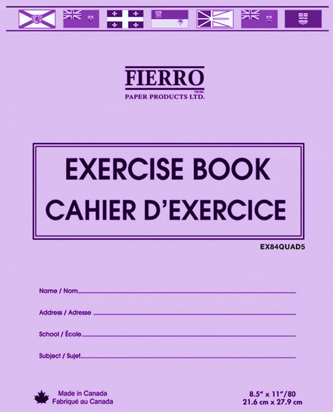 Exercise Book,  8.5 x 11. Quad/Graph Ruled 1cm, 40 pgs