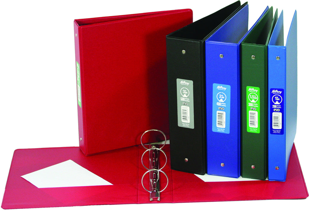 "Binders, Student - 3 in, ""O"" ring, Asstd Colours"