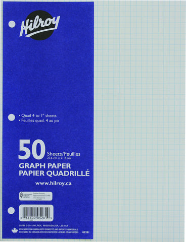 Refill Paper, Graph, 4:1 (1/4 in squares)