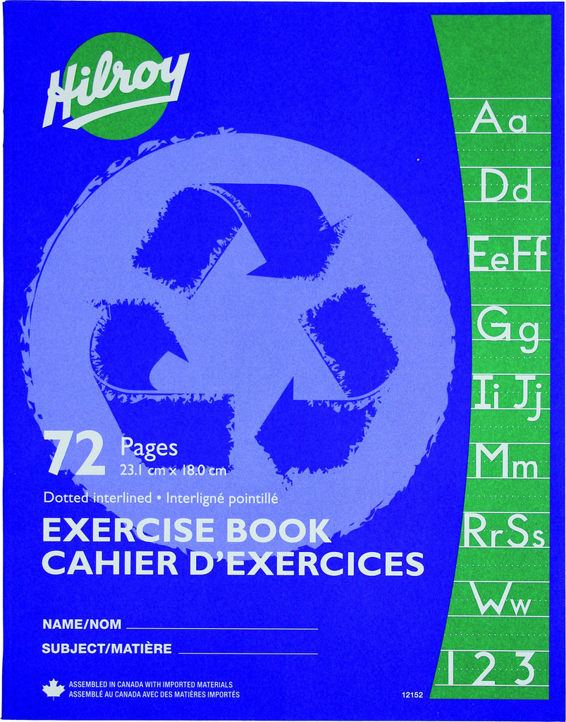 Exercise Book, Dotted Interlined - 72 pgs (23.1 x 18cm)