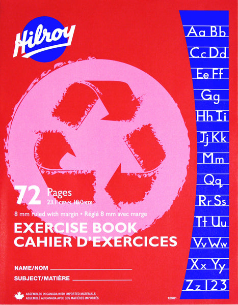 Exercise Book, 8mm Ruled - 72 pgs