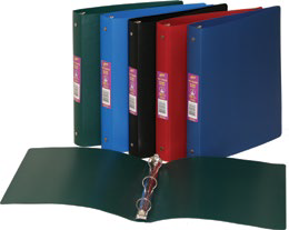 Binders, Poly Flexible - 1 in, Asstd Colours